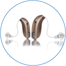 Over the ear hearing aids